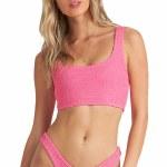 Billabong Womens Summer High Tank Bikini-Shaka Pink-S