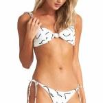 Billabong Womens How Bazaar Bandeau Bikini-Salt Crystal-S