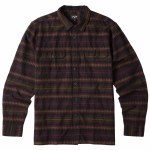 Billabong Mens Offshore Flannel Long Sleeve Button-Up-Black-S