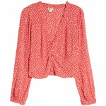 Billabong Womens Starry Nights Long Sleeve Top-Guava-S
