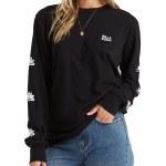 Billabong Womens Crossing The Horizon Long Sleeve T-Shirt-Black-S