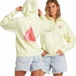 Billabong Womens Catchin Waves Hoodie-Key Lime-S