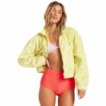 Billabong Womens Cheeko Fleece-Lemon Zest-S