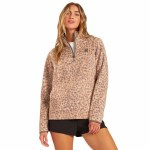 Billabong Womens Boundary Mock Half Zip 2 Fleece-Chai-S