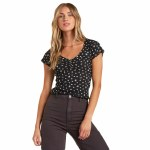 Billabong Womens V Day Short Sleeve T-Shirt-Black Multi-S