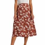 Billabong Womens Wild and Free Skirt-Chocolate-27