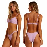 Billabong Womens Surf Check Underwire Bikini-Lit Up Lilac-S