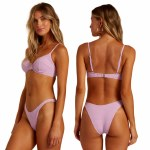 Billabong Womens Surf Check Hike Bikini-Lit Up Lilac-S