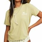 Billabong Womens Eco Rockers Tee Short Sleeve T-Shirt-Cactus-S