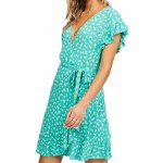 Billabong Womens Wrap And Roll Dress-Tropic Shore-S