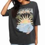 Billabong Womens Summer Tour Short Sleeve T-Shirt-Off Black-XS