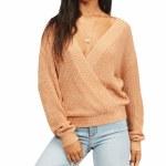 Billabong Womens Bring It Sweater-Sandstone-S