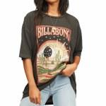 Billabong Womens Midnight Ravers Short Sleeve T-Shirt-Off Black-XS
