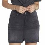 Billabong Black Magic Denim 5 Pocket Skirt Womens-Black Fade-30