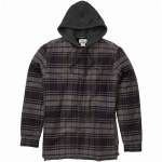 Billabong Baja Sherpa Flannel Shirt-Black-S