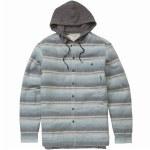 Billabong Baja Sherpa Flannel Shirt-Light Blue-S