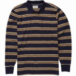 Billabong Izzy Long Sleeve Polo Shirt-Navy-M