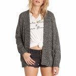 Billabong Luna Day Cardigan Womens-Dark Athletic Grey-M