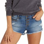 Billabong Buttoned Up Short Womens-Beach Blue-26