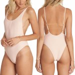Billabong Tan Lines One Piece Swimsuit Womens-Barely Blush-S