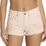 Billabong Drift Away 5 Pocket Cutoff Denim Short Womens-Peaches-25