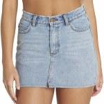 Billabong Black Magic 5 Pocket Slim Fitting Denim Skirt Womens-Sea Wash-29