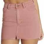 Billabong Black Magic 5 Pocket Slim Fitting Denim Skirt Womens-Sunburnt-26