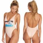 Billabong Back When One Piece Swim Womens-Peaches-M