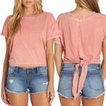 Billabong Tie Breaker Short Sleeve T Shirt Womens-Sunburnt-XS
