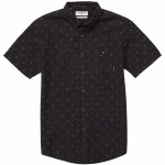 Billabong All Day Jacquard Short Sleeve Woven Top Boys-Black-L