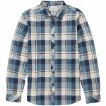 Billabong Coastline Flannel Long Sleeve Yarn Dye Flannel Woven Top Boys-Dark Blue-S
