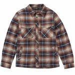 Billabong Barlow Plaid Jacket Boys-Pewter-S