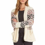 Billabong In Stitches Sweater Cardigan Womens-White Cap-M