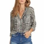 Billabong Venture Out Long Sleeve Woven Shirt Womens-Black/White-S