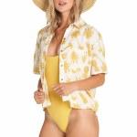 Billabong Hana Koa Short Sleeve Woven-White Cap-S