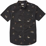 Billabong Mens Sundays Mini Short Sleeve Woven-Black-S