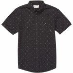 Billabong Mens All Day Jacquard Short Sleeve Woven-Black-M