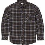 Billabong Mens Freemont Flannel Long Sleeve Woven-Black-L