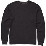Billabong Mens Essential Thermal Long Sleeve Top-Black Heather-M