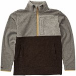 Billabong Mens Boundry Mock Half Zip Fleece-Grey-M