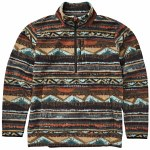 Billabong Mens Boundry Mock Half Zip Fleece-Rust-XL