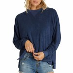 Billabong Womens Three Day Weekend Crew Sweatshirt-Blue Tide-S