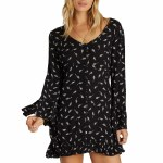 Billabong Womens Todays End Dress-Black-XS