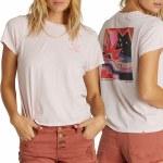 Billabong Womens It Matters Short Sleeve T-Shirt-Pink Blush-XS