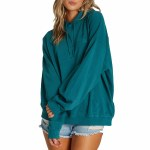 Billabong Womens Ride Out Hoodie-Lagoon-M