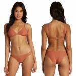 Billabong Womens Tanlines Fixed Tri Bikini Top-Cacao-S