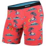 BN3TH Mens Classic Boxer Brief Print Underwear-Aloha/Coral-L