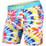 BN3TH Mens Classic Boxer Brief Print Underwear-Tie Dye/Happy-L