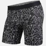 BN3TH Mens Entourage Boxer Brief-Black/White-L