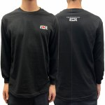 The Boardroom Mens Signature Embroidery Long Sleeve T-Shirt-Black-XL